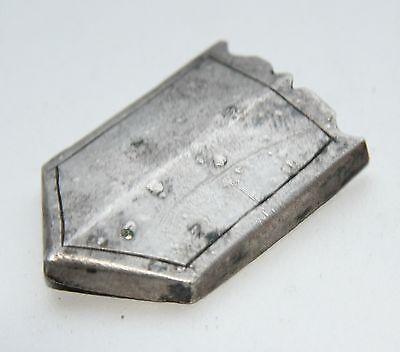 Ancient Old Medieval Silver Belt Fitting.