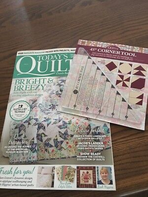 Today's Quilter magazine 33 With 45deg Corner Tool LATEST ISSUE