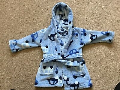 Boys Dressing Gown 3-6 Months