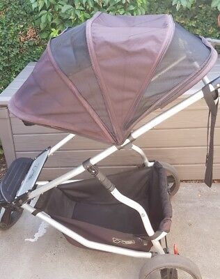 Mountain Buggy +one Frame with accessories. SEAT FABRIC NOT INCLUDED.