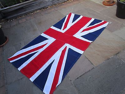 """Ex British Military UNION JACK FLAG BRITISH MADE approx 7ft  x 4ft 1"""""""