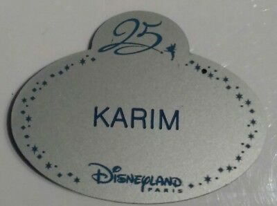 Exclusif Name tag Cast Member 25ème anniversaire Disneyland Paris  Eurodisney