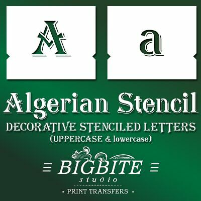 Alphabet lowercase&UPPERCASE Stencils Set,Reusable for Wall,Furniture,customised