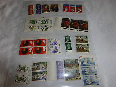 """Various old Uk """"d"""" stamps unmounted"""
