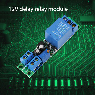 DC12V Adjustable Signal Trigger Turn Off Delay Timer Switch Relay Module Safe el