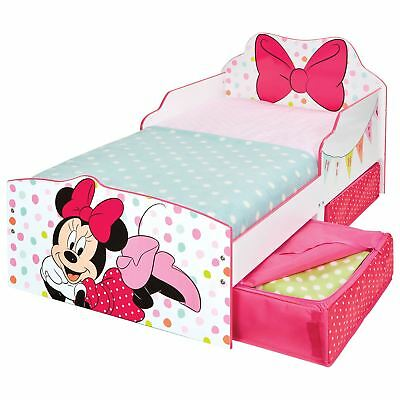Minnie Mouse Junior Toddler Bed With Underbed Storage + 3 Mattress Options