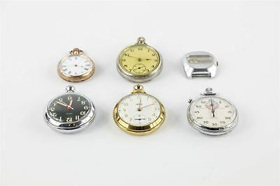 Brilliant Lot of 6 x Vintage HAND-WIND Gents Watches MIXED Designs -WORKING