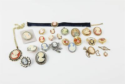 Fantastic Large Lot of Vintage Cameo Themed Mixed Costume Jewellery