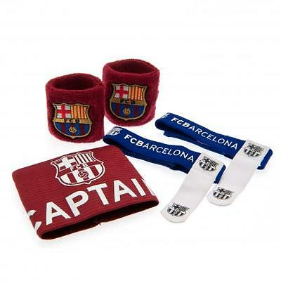 FC Barcelona Accessories Set Arm Band Sock Ties Gift Official Licensed Product