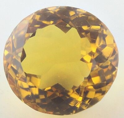14.5x13.5mm OVAL-FACET NATURAL BRAZILIAN GOLDEN CITRINE GEMSTONE (APP £211)