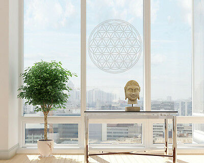 window sticker Flower of Life Sticker Life Flower Frosted Glass Engraving Laser