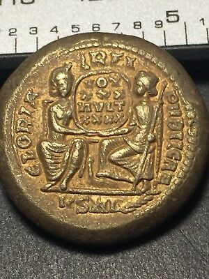 Ancient Rome Byzantine, Tetradrachm Coin Constantine III, Angels Greeting Angels
