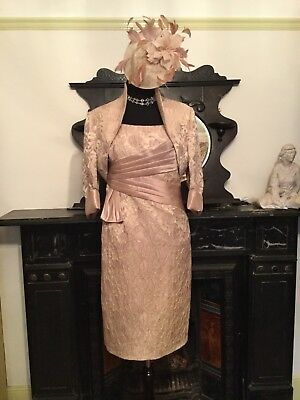 John Charles Mother Of The Bride Races Wedding Outfit Suit NWT Size 18 & Hat