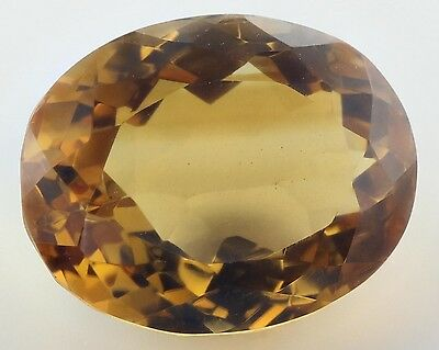 UNUSUAL 16.5x13mm OVAL-FACET NATURAL AFRICAN GOLDEN CITRINE GEMSTONE (APP £207)