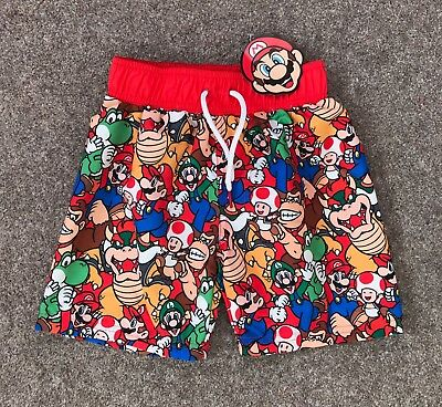 b2fa1a6aeca11 Super Mario Boys Swimming Swim Shorts Trunks 2-3 4-5 Years Nintendo Primark