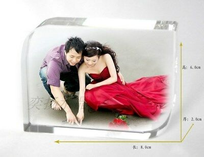 Personalized Photo Frame Printing Crystal Glass Engraved Photo Birthday Gift