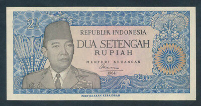 Indonesia: 1964 2½ Rupiah WITH IMPRINT. Pick 81a, EF & SCARCE