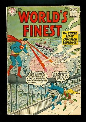WORLD'S FINEST #115 -- February 1961 -- G+ Or Better