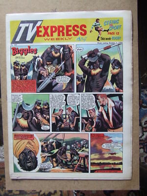 TV Express No 309 (1960). Incl Biggles full colour comic strip serial.