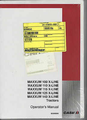 Case/ih Maxxum X-Line Tractor Operators Manual