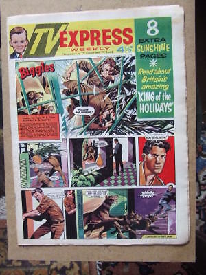 TV Express No 325 (1961). Incl Biggles + 8 page Butlin's Holidays Supplement