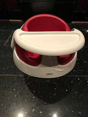 Mamas and Papas Red n White seat with removable tray, very good condition