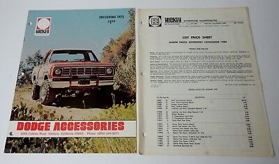 1970's HE HICKEY DODGE TRUCK ACCESSORIES BROCHURE CATALOG ORDER FORM PRICE LIST