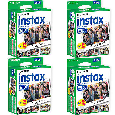 80 Prints Fuji Instant Wide Instax Film for Fujifilm 200, 210, 300 Camera 04/19