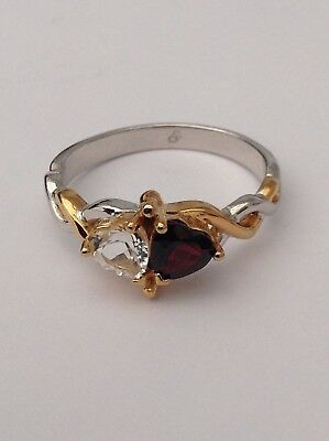 Silver And Gold Hearts Entwined Stunning Ring The Best Ever