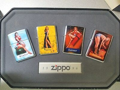 ZIPPO 1996 Collectible of the year 4 SEASONS lighter tin. MIB. RARE!