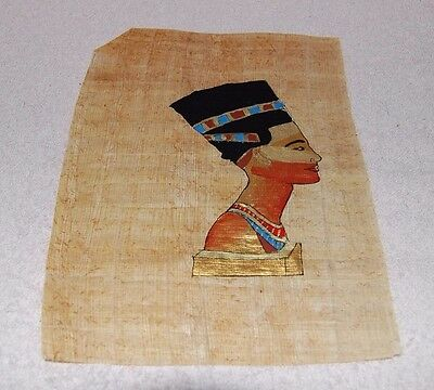 Egyptian Papyrus Genuine Hand Painted Queen Nefertari 23 x 18cm