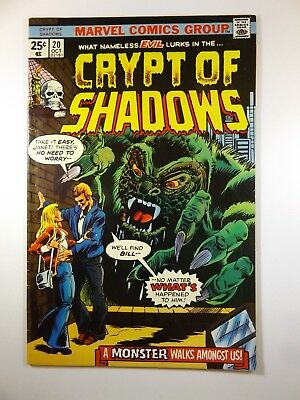 "Crypt of Shadows #20 ""A Monster Walks Amongst Us!"" Solid Fine!!"