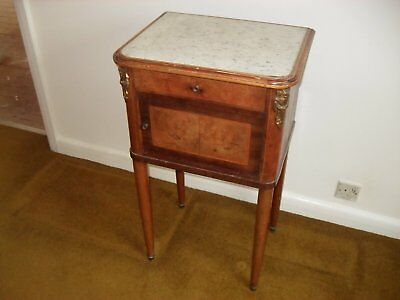 19th Century French Inlaid Bathroom/Bedside Cabinet/Pot Cupboard