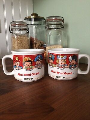 CUTE!! Campbell's Soup Mugs - Set of 2 -  1997 by West Wood