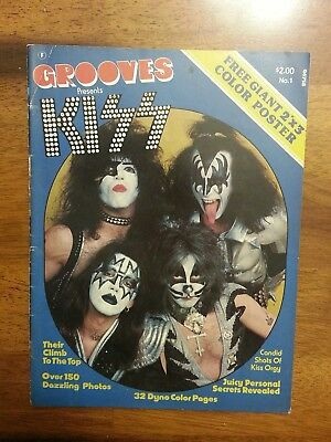 Kiss  army  magazine vintage rare  grooves presents
