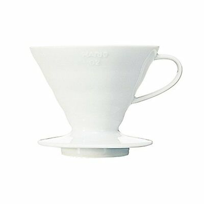 Hario coffee Dripper V60 ceramic dripper  white 02 1-4 cups  VDC-02W F/S wTrack#