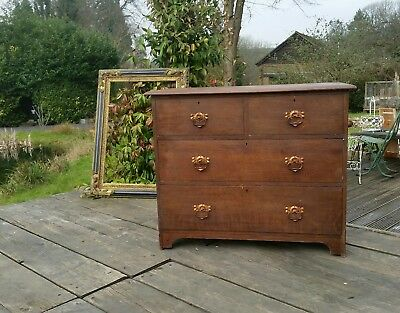Antique Oak Chest of Drawers -