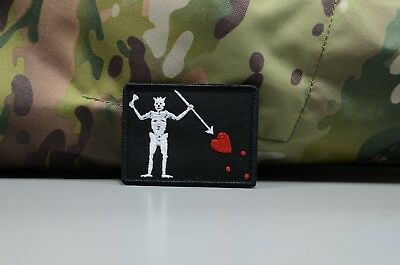 Pirate flag of Blackbeard (Edward Teach) Tactical army morale military patch