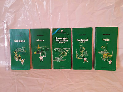 Vintage Michelin travel guides books lot of 5
