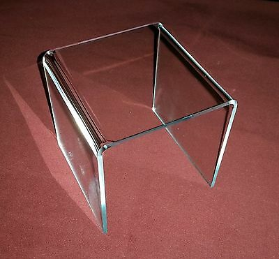 *Clear Acrylic Square Riser Risers Pedestals Display Stands Pick size & quantity