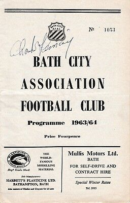 BATH CITY v FALMOUTH TOWN 1963/64 FA CUP 4TH QUALIFYING ROUND