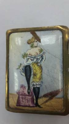 RRR Rare collectible Russian French Austrian box with painted enamel 19-20 cen.