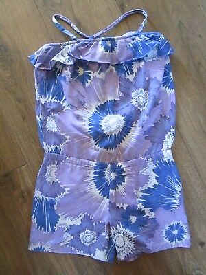 Girl's Playsuit, Age 8-9 years, GAP Kids, Cotton, Purple Floral