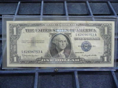 1957-B  (1) One Dollar Blue Seal Note  * S62696753A*  B-21-18