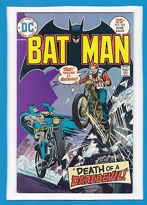"Batman #264_June 1975_Fine_""death Of A Daredevil""_Bronze Age Dc!"
