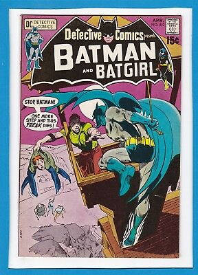 Detective Comics #410_April 1971_Vf+_Batman_Batgirl_Neal Adams_Bronze Age Dc!