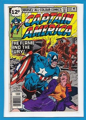 """Captain America #232_Apr 1979_Very Good_""""the Flame And The Fury""""_Bronze Age_Uk!"""