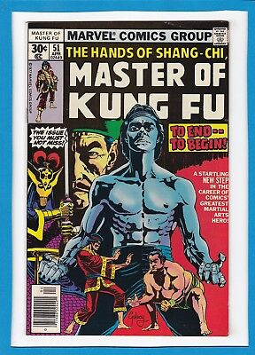 The Hands Of Shang-Chi, Master Of Kung-Fu #51_April 1977_Vf Minus_Bronze Age!