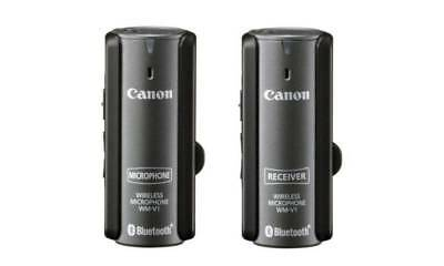 *RARE/SOLD OUT* CANON WM-V1 WIRELESS BLUETOOTH MICROPHONE - ALSO WORKS w/DSLRS!