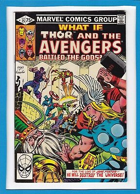 """What If.. #25_Feb 1981_Very Fine Minus_""""thor And The Avengers Battled The Gods""""!"""